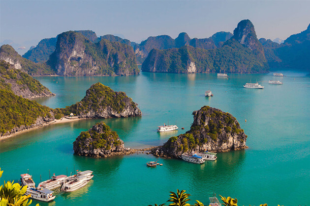 Halong Bay discovery from Vietnam Cambodia Laos tour package