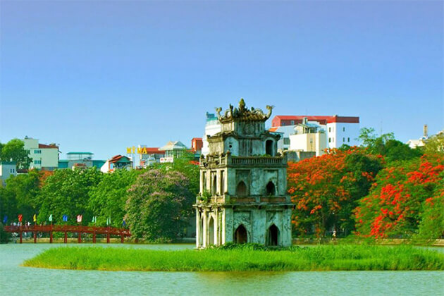 Hoan Kiem Lake best destination in Indochina tours