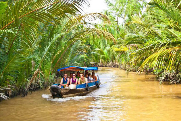 Indians experience Mekong Delta from Vienam Cambodia Laos tour package