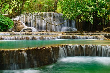 Kuang Si Falls in luang prabang - vietnam laos holiday packages