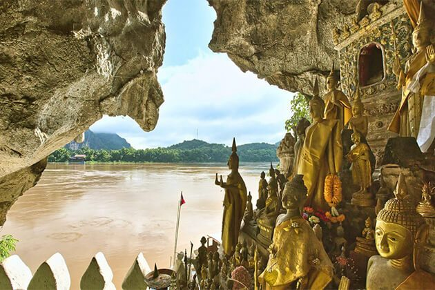 Pak Ou Caves exploration from Vietnam Cambodia & Laos trip