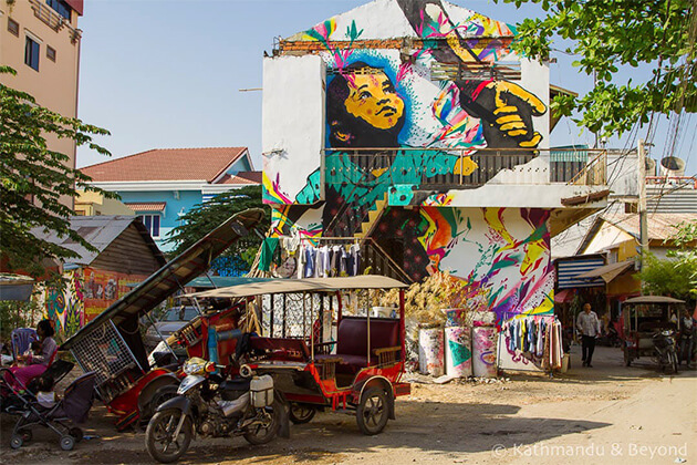 Phnom Penh's Street Art visiting from Indochina trips