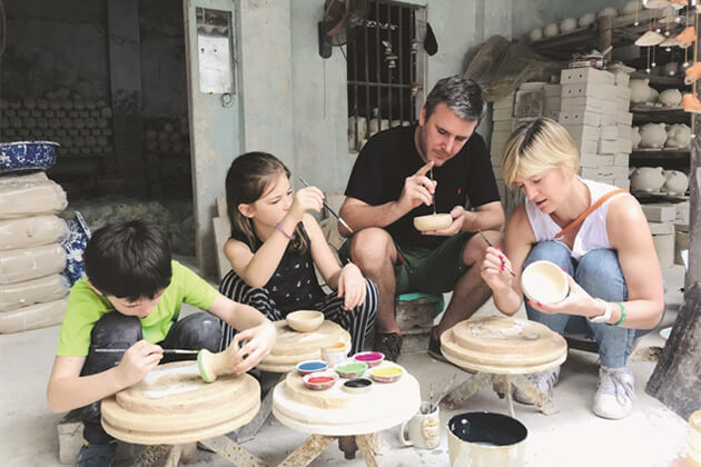 discover Bat Trang Ceramic Village from Vietnam Cambodia Laos trip
