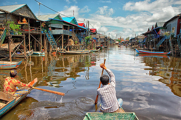 experience Tonle Sap Lake from Vietnam Cambodia & Laos tour packages