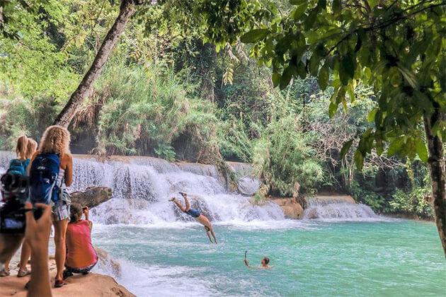 experience kuang-si-waterfall in laos