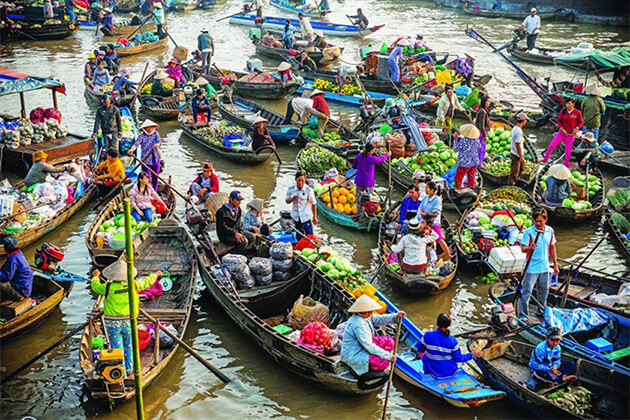 explore Cai Be floating markets from Indochina tour