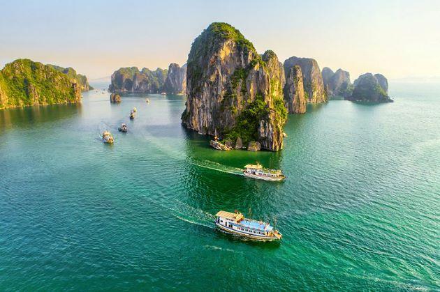 halong magic bay in vietnam