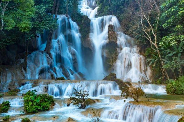 kuangsi waterfall in luang prabang