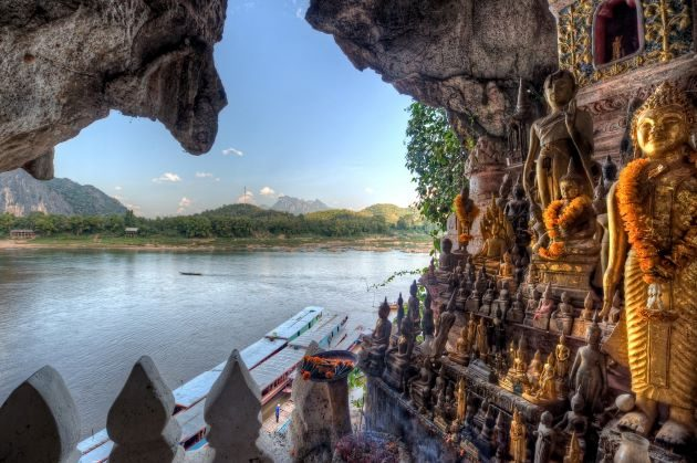 pak ou cave in laos
