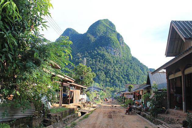peaceful Muang Ngoi Neua in Laos