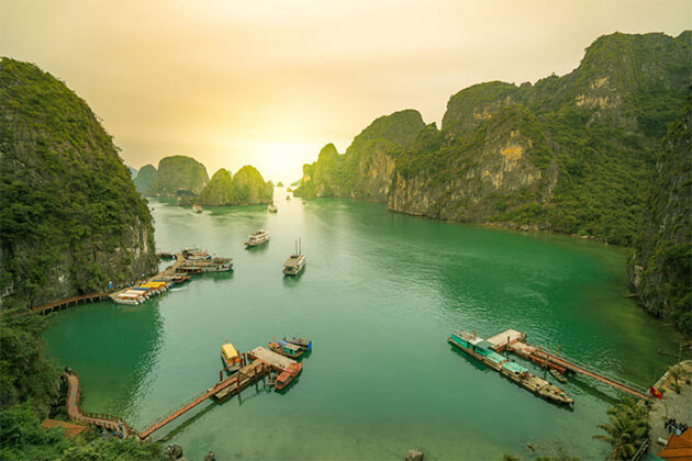 stunning view of Halong Bay Vietnam