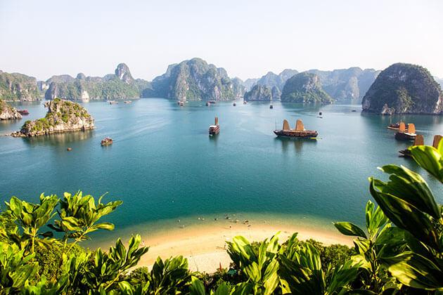 the wonderful Halong Bay