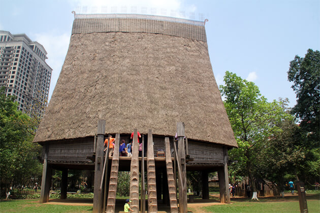 travelers of Vietnam Cambodia Laos trip visit Museum of Ethnology