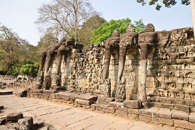 visit Terrace of Elephants & Terrace of the Leper King in Cambodia